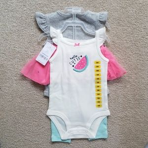 NWT Watermelon Outfit Set